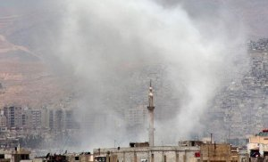 Ambasada Rusiei din Damasc a fost lovită de obuze