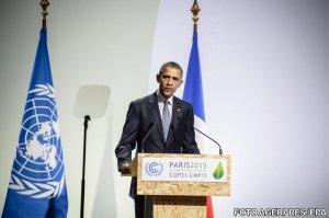 Ce a păţit Obama în timpul discursului de la summitul de mediu. Toată lumea a crezut că nu se mai sfârșește