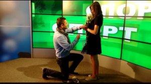 Celebră prezentatoare de sport, cerută în căsătorie în direct. Momentul a fost filmat