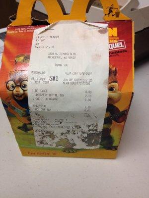 A păstrat un meniu de la McDonald's timp de șase ani. Este uimitor cum arată acum mâncarea