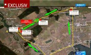 Imagini din satelit cu locul accidentului în care a murit Condrea