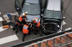 Accident rutier grav în București. Șase mașini au fost implicate