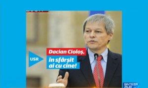 """ALEGERI PARLAMENTARE 2016. Sloganul USR - """"Dacian Cioloş, în sfârşit ai cu cine"""" - greșit înțeles. Care este forma corectă?"""