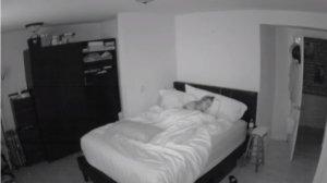 Dormea, când ușa dormitorului s-a deschis: nimeni în cadru. A doua zi s-a uitat pe înregistrare și a avut un șoc - VIDEO