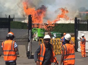 Incendiu de amploare la clubul de tenis Wimbledon