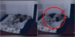 Femeia se trezea în fiecare dimineață cu vânătăi noi pe tot corpul, deși dormea dusă peste noapte. Când n-a mai rezistat a instalat o cameră de supraveghere. După ce a văzut ce se întâmpla a simțit că leșină