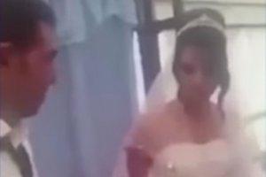 A pălmuit-o cu putere, de față cu toată lumea, chiar la petrecerea de nuntă. Ce a făcut mireasa. Totul a fost filmat - VIDEO