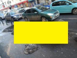 """FOTO. Apariție bizară în centrul Bucureștiului. Oamenii au rămas înmărmuriți: """"Este un crocodil!"""""""