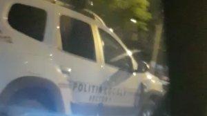 """Georgiana era la volan, în apropiere de București, când a văzut oprită mașina poliției. """"Am crezut că era un om"""" (FOTO+VIDEO)"""