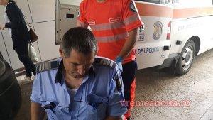 Caz incredibili în Vaslui. Polițist accidentat după ce a oprit o mașină și l-a amenințat pe șofer cu pistolul - VIDEO