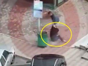 Scene șocante la Pitești. Tânără bătută în plină stradă de un individ