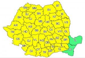 Cod galben de averse torenţiale, vijelii şi grindină în toată ţara. Avertizarea e valabilă până miercuri seara