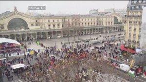 Este grevă generală în Franţa! Motivul pentru care protestează sute de mii de oameni - VIDEO