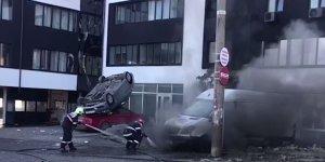 Clipe de panică la Galați. A fost la un pas de dezastru: explozie în plin oraș, la o benzinărie