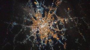 Cum arată Bucureștiul din spațiu. Imaginea a fost publicată de NASA