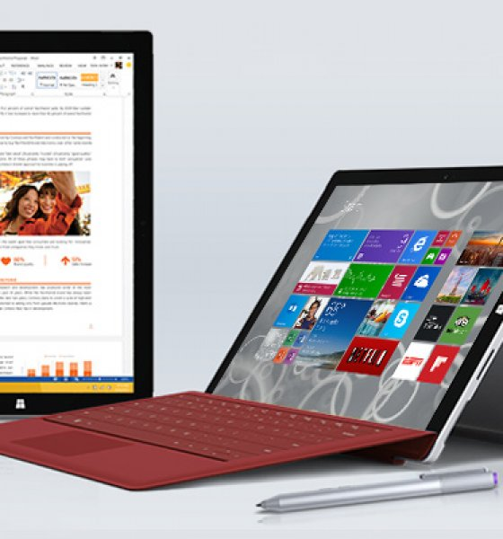 Microsoft lansează un nou model al tabletei Surface Pro 3